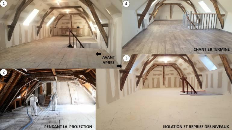 Rénovation en mousse isolante ICYNENE