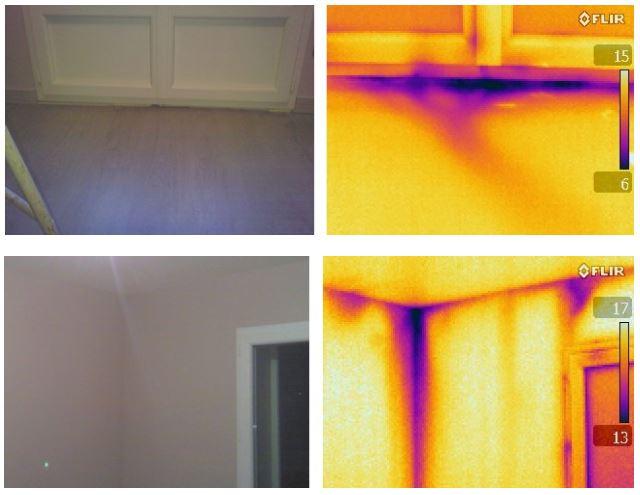 test d'infiltrométrie - caméra thermique